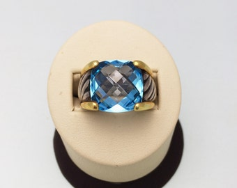 Vintage Blue Topaz David Yurman Ring