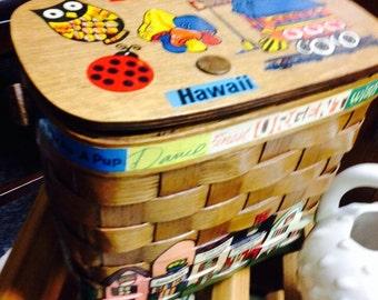 CORA-NAN Coranan Vintage HAWAII Boutique Basket Purse from 1970s