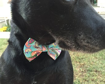 Paisley Dog Bow Tie