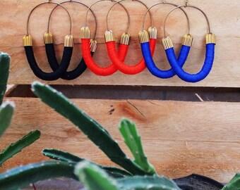 Dangle Hoop Earrings. Boho Wrapped.