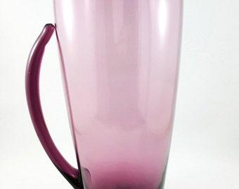 Blown Glass Purple Martini Pitcher