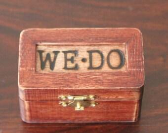 Rustic Ring Bearer Box! Wedding Keepsake, Wooden box, Rustic Wedding Decor, Jewelry Box, Country Themed