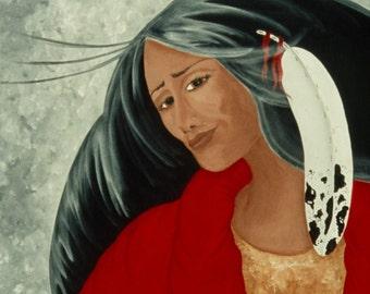 "Giclee Print Fine Art Paper Native American Print Surreal Print Metaphyscal Print ""Integrity"""