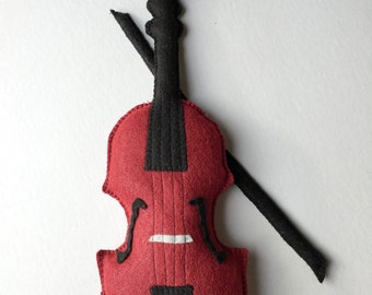 Violin, Toy Violin, Felt Toys, Plush Violin, Stuffed Violin, Baby Violin, Music Nursery, Pretend Play, Toy Instruments