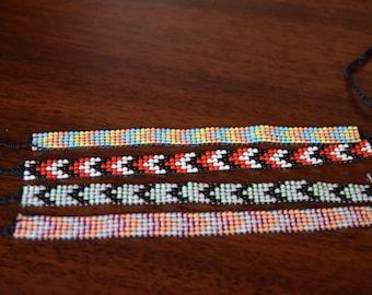 Chevron Seed Bead bracelet