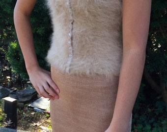 Warm Sand Angora Tank with Matching Skirt!