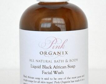 Liquid Black African Facial Wash