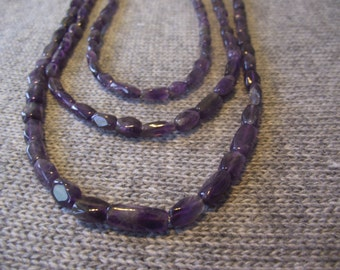 Three strand Amethyst necklace