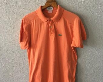1970's Lacoste Raglan Vintage Coral Polo Shirt
