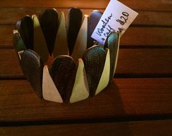 Tanzanian wooden cuff bracelet