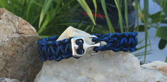 Nautical Anchor Paracord Bracelet or Anklet, paracord bracelet with anchor buckle, a thin 275 paracord used