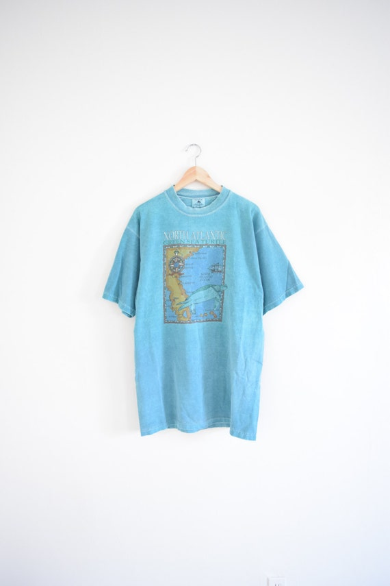Sea turtles map size adult x large 90s t shirt eco for Green turtle t shirts review