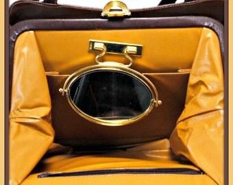 Vintage Lou Taylor Handbag,Vintage Shoulder Bag,Vintage Vinyl Shoulder Bag,Vintage Lou Taylor Shoulder Bag,Vintage Lou Taylor Faux Leather