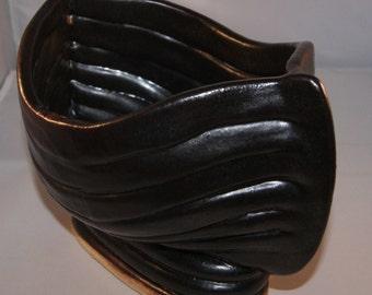 Hand build coiled ceramics pottery bowl ship