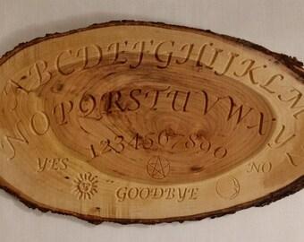 Cherry Wood Plank Ouija Board, Spirit Board