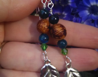 Acai Seeds and Leaves Earrings