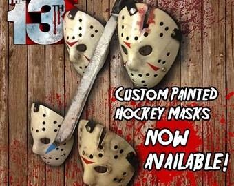 Custom Painted Jason Voorhees Hockey Masks