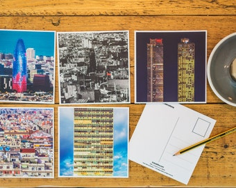 Barcelona Photographic Postcard Collection (5 Postcards)