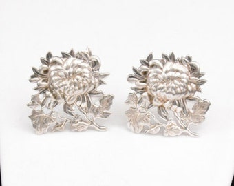 PR. Vintage Victorian Placecard / Menu Holders.... CHRYSANTHEMUM         J252