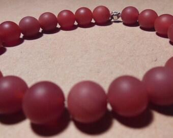 Red Carnelian gemstone elastic bracelet