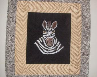 Zebra Art Quilt