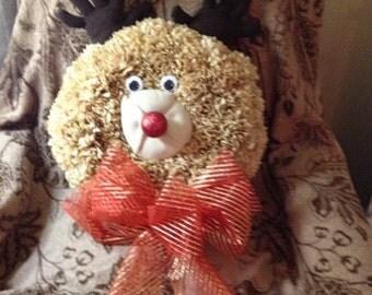 Reindeer Paper Wreath