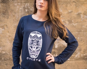 Sweat-shirt bleu marine confort - coton biologique (femme/woman)