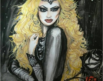 Watercolor painting,, Ice queen,,