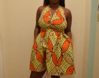 Orange Infinity mini dress