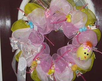 """18"""" Spring """"Chick"""" Wreath"""