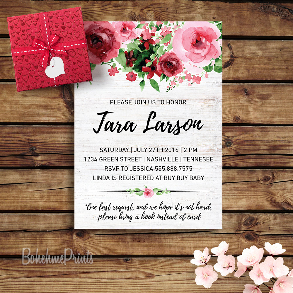 boho baby shower invitation printable baby girl shower