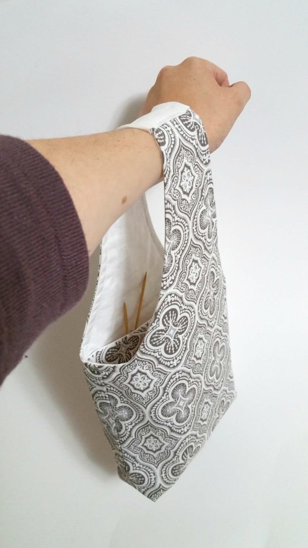 Knitting Bag Crochet Bag Small Wrist Bag Sock Knitting