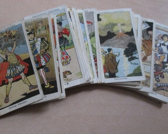 Full Set of 40 Churchman's Howlers Cigarette cards. Circa 1937