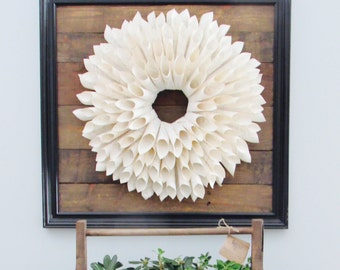 Handmade book page wreath