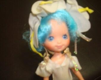 Vintage Lily Fair Rose Petal Doll Blue with Bonnet and Leotard