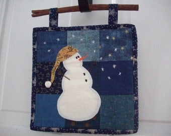 Snowman Mini Quilt Pattern