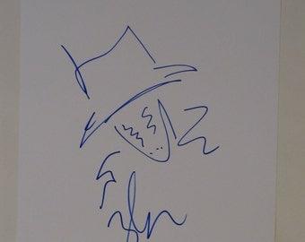 Zack Snyder Signed Sketch