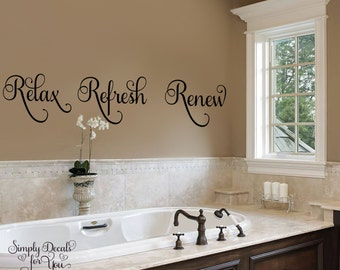 Bathroom decal | Etsy