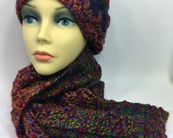 Radiant Womens Scarf with Beret