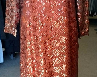 Vintage 1960's Rose Taft for Couture Fashions Gown!