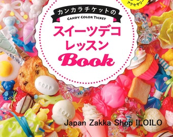 "Japanese Resin Handicraft Book,""Kankara ticket Sweets Deco Lessons Book"",Handmade,DIY,Japan"