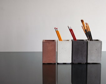 Concrete Cup, Pencil cup, Pencil Holder, Pen Holder, Pen pot, Paintbrushes holder, Toothbrush holder, Pen holder, Office decore