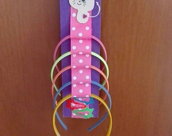 Door small circles and little spring hairclip holder