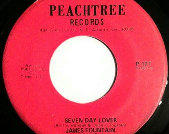"""Vinyl Record, Northern Soul, James Fountain - Malnutrition / Seven Day Lover (7""""), 45 RPM records"""