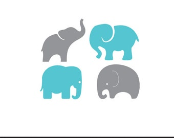 baby elephants set svg dxf file instant download stencil silhouette cameo cricut clip art boy nursery animals commercial use