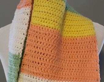 Color Block Cowl, Infinity Scarf,   Crochet Cowl, Crochet Scarf