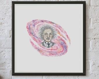 Einstein - Fine Art Digital Giclee Print