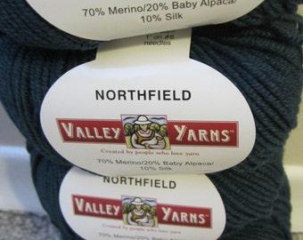 Northfields by Valley Yarns - Merino, Alpaca & Silk in Balsam Green