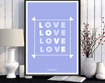 Poster art, Wall poster, Poster love, Wall art decor, Poster design, Scandinavian poster, Printable wall poster, Home decor, Printable gift
