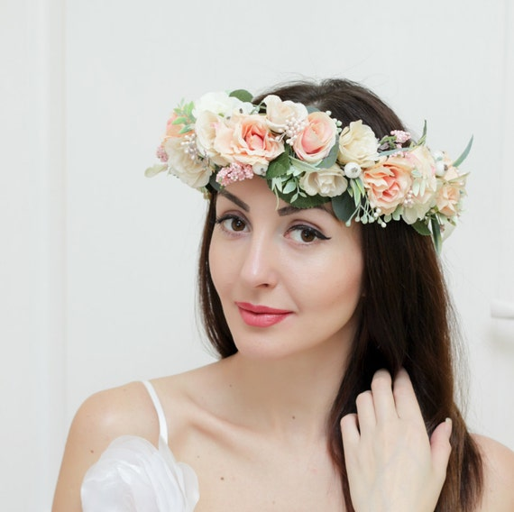 flower headbands for weddings bridal floral crown flower headband bridal headband 4196